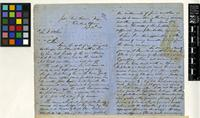 Letter from Charles Barter to Sir William Jackson Hooker; from Jeba, river Kworra, Nufe, Central Africa; 13 Aug 1858; four page letter comprising two images; folio 70.