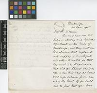 Letter from John C.[Christopher] Willis to Sir William Thiselton-Dyer; from Peradeniya, [Sri Lanka ex-Ceylon]; 24 Nov 1905; two page letter comprising two images; folio 77