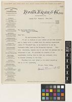 Letter from Davies, Turner & Co Ltd to Sir Arthur William Hill; from London, [England]; 20 Dec 1911; one page letter comprising one image; folio 300