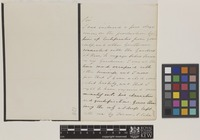 Letter from Thomas Duffield to Sir William Jackson Hooker; from [author address unknown]; c.1841; two page letter comprising one image; folio 105