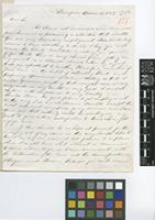 Letter from Mark J.[Johnston] McKen to Sir William Jackson Hooker; from Dumfries [Scotland]; 19 Dec 1849; two page letter comprising two images; folio 151