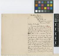 Letter from G.D. Scull to Sir Joseph Dalton Hooker; from Bentham House, Miss Hudson's, The Mount, Heath Street, Hampstead; 21 Jan 1883; two page letter comprising two images; folio 264