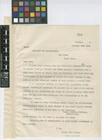 Copy of a letter from M.T.[Morley Thomas] Dawe to Ministro de Agricultura, San Jose, Costa Rica; from London; 30 Oct 1920; one page letter comprising one image; folio 259