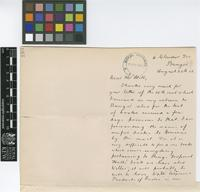 Letter from G.A. Jones to Sir Arthur William Hill; from Glandur Terrace, Bangor [Wales]; 20 Aug 1912; three page letter comprising two images; folio 193