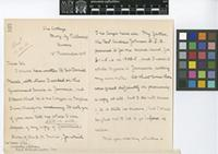 Letter from Ms Amy C. Johnson to William Botting Hemsley; from The Cottage, Bury, by Pulborough, Sussex, [England]; 12 Nov 1906; three page letter comprising two images; folio 325