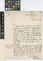 Letter from J.H.[John Hinchley] Hart to The Royal Botanic Gardens, Kew; from Botanical Department, Trinidad; 9 Nov 1898; one page letter comprising one image; folio 366