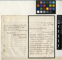 Letter from C. La Trobe to Sir William Jackson Hooker; from 27 Ely Place; 22 Jan 1858; four page letter comprising of two images; folio 335