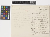 Letter from W.D.[Willliam Dougal] Christie to Sir William Jackson Hooker; from Paraná, [Brazil]; 29 Nov 1856; three page letter comprising two images; folio 71