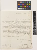 Letter from Mathie Hamilton to Sir William Jackson Hooker; from 52 Gravel Lane, Southwark, London, [England]; 16 July 1825; two page letter comprising two images; folio 69