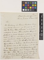 Letter from H.[Henry] Chamberlain to Sir William Jacksons Hooker; from British Consulate General, Rio de Janeiro, [Brazil]; 8 Mar 1826; one page letter comprising one image; folio 99