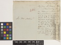 Letter from A.[Asa] Gray to Sir William Jackson Hooker; from [England]; c.1851; two page letter comprising one image; folio 282