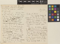 Letter from Sir J.D.[Joseph Dalton] Hooker to [John William] Dawson; from the Royal Botanic Gardens, Kew, [England]; 5 Jan 1878; six page letter comprising four images; folios 199 - 200