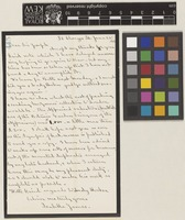 Letter from Mrs Isabella James to Sir Joseph Dalton Hooker; from 36 Clarges Street, [London, England]; 28 June 1883; one page letter comprising one image; folio 445