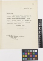 Letter from Sir Arthur William Hill to F.J. Rae; from the Royal Botanic Garden, Kew, [England]; 22 Mar 1927; one page letter comprising one image; folio 172