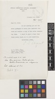 Letter from C.S.[Charles Sprague] Sargent to Sir Arthur William Hill; from Arnold Arboretum, Harvard University, Jamaica Plain, Massachusetts, [United States of America]; 18 Nov 1925; one page letter comprising one image; folio 255