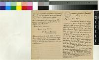 Letter from Peter MacOwan to Sir William Thiselton-Dyer; from Capetown, South Africa; 11 Aug 1891; three page letter comprising two images; folio 1196