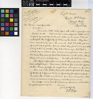 Letter from Fred Kay to Henry Harold Welch Pearson; from the Lighthouse, Cape St. Blaize, Mossel Bay, South Africa; 23 May 1911; one page letter comprising one image; folio 480