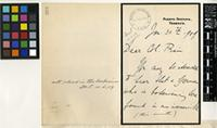 Letter from Dr. G. V. Perez to Sir David Prain; from Puerto Orotava, Tenerife; 30 Jan 1909; four page letter comprising two images; folio 269