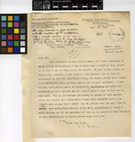 Letter from Miss A.V. Duthie to Sir Arthur William Hill; from Botanical Department, University of Stellenbosch, Stellenbosch, South Africa; 29 Sep 1924; one page letter comprising one image; folio 627