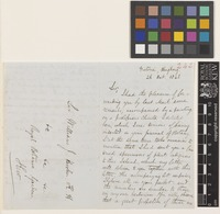Letter from H.F.[Henry Fletcher] Hance to Sir William Jackson Hooker; from Victoria, Hong Kong, [China]; 26 Oct 1848; four page letter comprising two images; folio 242