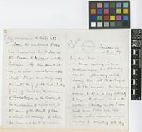 Letter from Henry Trimen to Sir William Thiselton-Dyer; from Peradeniya, [Sir Lanka ex-Ceylon]; 9 June 1891; eight page letter comprising four images; folios 471 - 472