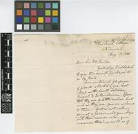 Letter from William Kennett Loftus to Sir William Jackson Hooker; from Morland Cottage, Norwood, [England]; 17 Aug 1855; two page letter comprising two images; folio 199