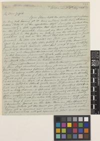 Letter from Robert Wight to Mr Griffith; from Ootacamund [Udagamandalam, India]; 20 May 1844; four page letter comprising four images; folios 644 - 645