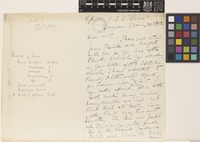 Letter from Alexander Gollan to Daniel Morris; from SS 'Rome', London, [England]; 20 Mar 1892; four page letter comprising two images; folio 289