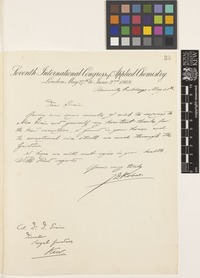 Letter from J.D.[Jan Derk] Kobus to Sir David Prain; from University buildings, London, [England]; 31 May 1909; one page letter comprising one image; folio 33
