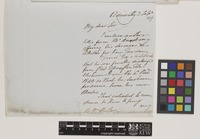 Letter from John Barrow to Sir William Jackson Hooker; from Admiralty, [London, England]; 3 Sep 1841; two page letter comprising two images; folio 26