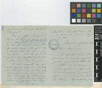 Letter from José [Jéronimo] Triana to Sir William Thiselton-Dyer; from Paris; 22 Sep 1888; four page letter comprising two images; folio 366