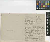Letter from J.C. Harvey to William Watson; from Plantacion La Buena Ventura, Sanborn, Estado De Veracruz, Mexico; 12 Dec 1911; three page letter comprising two images; folio 59
