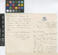 Letter from [Claude] Keith Bancroft to Sir Arthur William Hill; from 11 Green Street, Cambridge [England]; 28 Oct 1908; two page letter comprising one image; folio 27