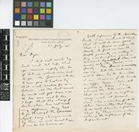 Letter from William Fawcett to Sir William Thiselton-Dyer; from Department of Public Gardens and Plantations, Gordon Town P.O., Jamaica; 22 July 1895; four page letter comprising two images; folios 445 - 446