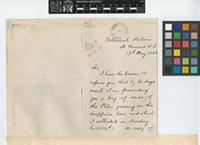 Letter from H.[Henry] Powell to The Royal Botanic Gardens, Kew; from Botanical Station, St Vincent, W.I.[West Indies]; 17 May 1895; three page letter comprising two images; folio 544