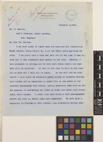 Letter and note from Charles Richards Dodge to Daniel Morris; from Department of Agriculture, Office of Assistant Secretary, Washington, D.C., [United States of America]; 8 Dec 1891; five page item comprising five images; folios 240 - 243