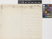 Letter from C.S.[Charles Sprague] Sargent to Lady Thiselton-Dyer; from Brookline, [United States of America]; 27 Apr 1902; one page letter comprising one image; folio 352