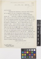 Letter from C.S.[Charles Sprague] Sargent to Sir David Prain; from Arnold Arboretum, Harvard University, Jamaica Plain, Massachusetts, [United States of America]; 29 Apr 1916; one page letter comprising one image; folio 188
