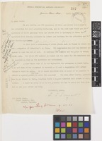 Letter from C.S.[Charles Sprague] Sargent to Sir David Prain; from Arnold Arboretum, Harvard University, Jamaica Plain, Massachusetts, [United States of America]; 1 Apr 1921; one page letter comprising one image; folio 217