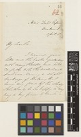 Letter from D. Cambury[?] to the Royal Botanic Gardens, Kew; from HMS Yacht 'Emperor', Woolwich, [England]; 11 Apr c.1857; two page letter comprising two images; folio 82