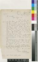 Letter from R. W. Adlam to the Director, Royal Botanic Gardens, Kew; from Joubert Park, Johannesburg, Transvaal; 23 Aug 1894; one page letter comprising one image; folio 21