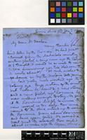 Letter from David Livingstone to Sir Joseph Dalton Hooker; from River Shire, Malawi; 9 Dec 1861; six page letter comprising five images; folio 179