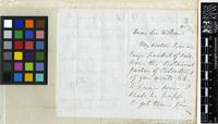 Letter from William Allen to Sir William Jackson Hooker; from Shaftesbury Crescent, Pimlico; three page letter comprising two images; folio 1