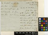 Letter from G. H. Ward to Sir William Jackson Hooker; from Northwood Park, Cowes, Isle of Wight; 23 Mar 1844; four page letter comprising two images; folio 226