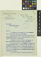 Letter from Alfred Brown to Sir David Prain; from Colombo Commercial Company Limited, Thames House, Queen Street Place, London; 22 Apr 1914; two page letter comprising two images; folios 183 - 184