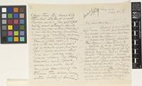 Letter from R.[Robson] Benson to Sir Joseph Dalton Hooker; from Rangoon [Yangon, Burma]; 28 July 1867; eight page letter comprising four images; folios 17 – 18 Burma