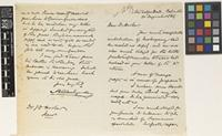Letter from Arthur H.[Henry] Blechynden to Sir Joseph Dalton Hooker; from Metcalfe Hall, Calcutta, [Kolkata, India]; 20 Aug 1869; two page letter comprising one image; folio 57 Burma
