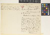 Letter from J.E.T.[James Edward Tierney] Aitchison to Sir Joseph Dalton Hooker; from Talagang, [Pakistan]; 8 May 1878; two page letter comprising one image; folio 45 NWI