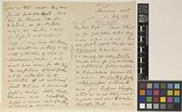 Letter from J.F.[John Firminger] Duthie to Sir William Thiselton-Dyer; from Mussoorie, N.W.P.[North West Provinces, India]; 27 July 1879; five page letter comprising three images; folios 39 – 40 SPR