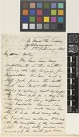 Letter from T.[Thomas] Anderson to Sir Joseph Dalton Hooker; from on board the 'Alexandria'; 3 Feb 1861; two page letter comprising two images; folio 7